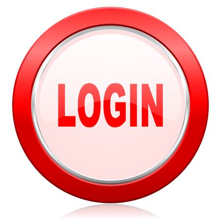 Log Out: login icon Stock Photo