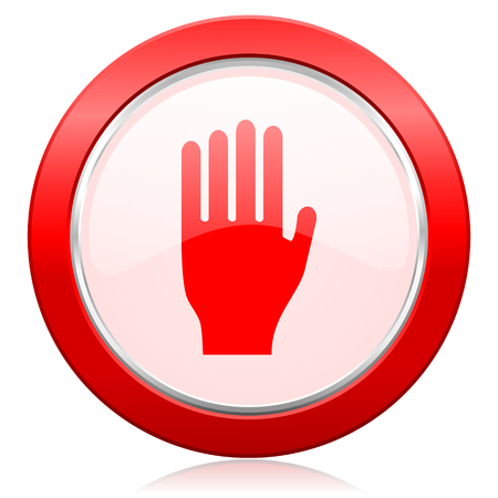stop icon: stop icon hand sign