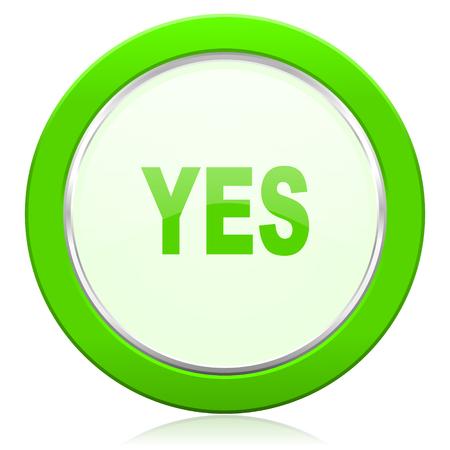 yes icon: yes icon Stock Photo