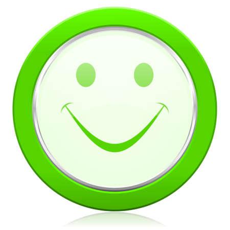 smile icon: smile icon Stock Photo