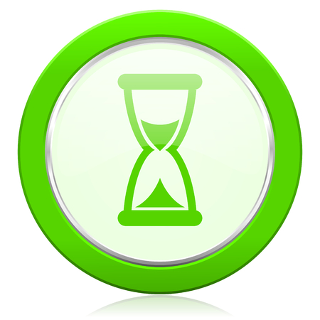 time icon hourglass sign photo