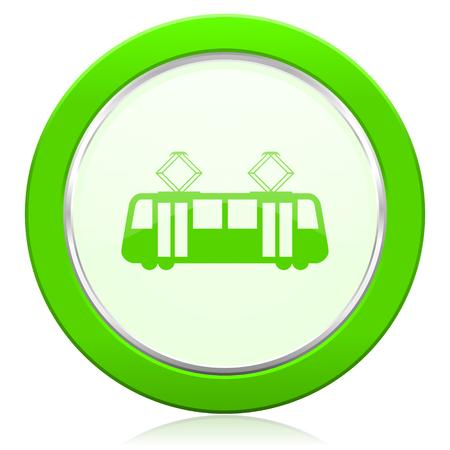 tram icon public transport sign photo