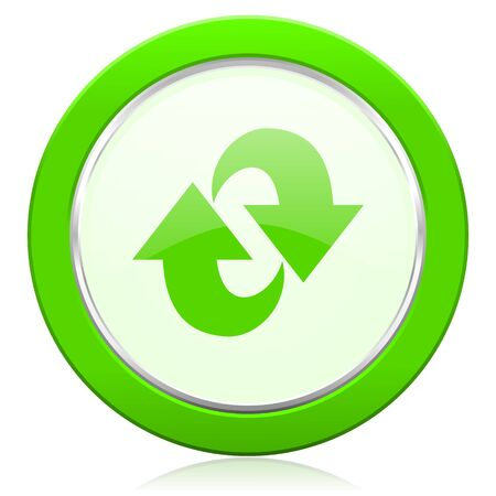 refresh: rotation icon refresh sign Stock Photo