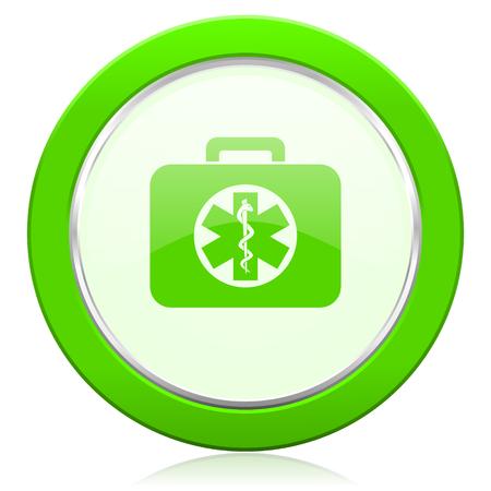 emergency sign: rescue kit icon emergency sign Stock Photo
