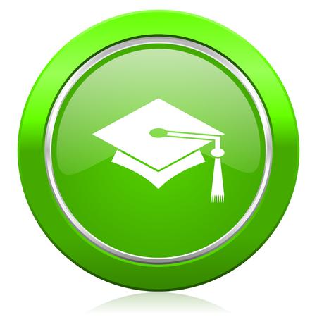 fresh graduate: education icon graduation sign Stock Photo