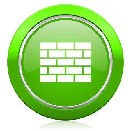 firewall icon brick wall sign photo