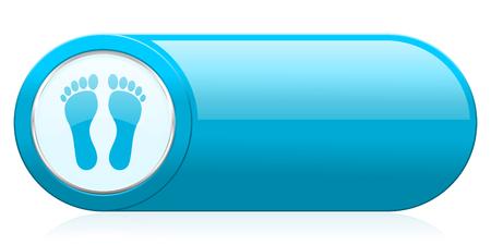 toe tag: foot icon Stock Photo