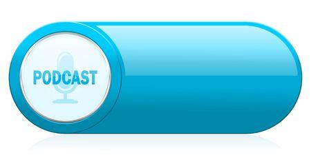 podcasting: podcast icon Stock Photo