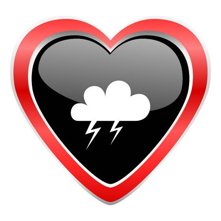 meteo: storm icon waether forecast sign