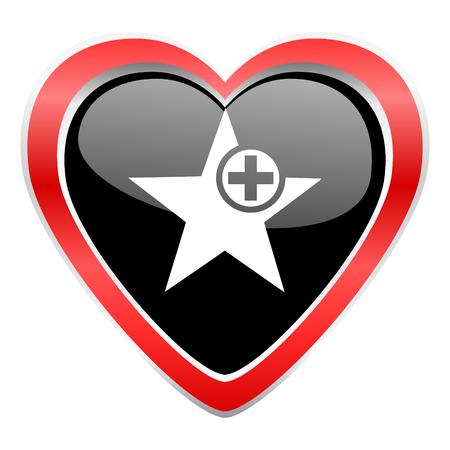 favourite: star icon add favourite sign Stock Photo