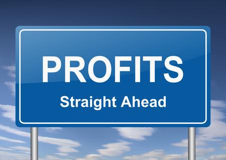 succes: profits sign
