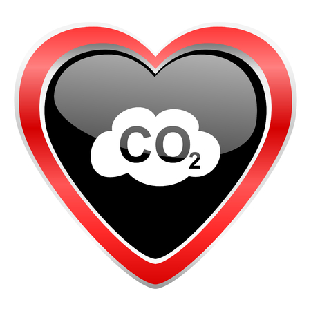 carbonic: carbon dioxide icon co2 sign