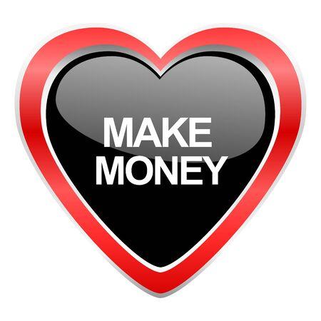 holiday profits: make money icon Stock Photo