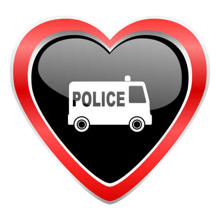 highway love: police icon Stock Photo