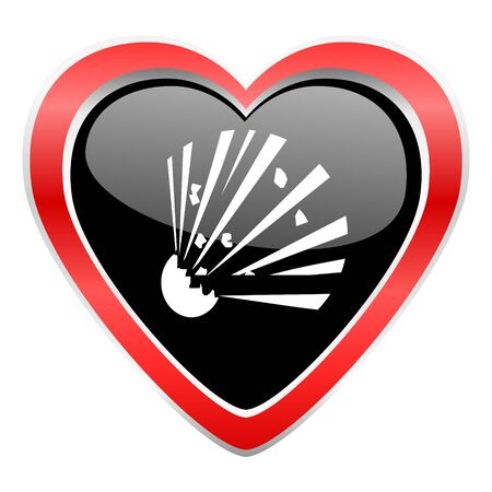 love dynamite: bomb icon Stock Photo