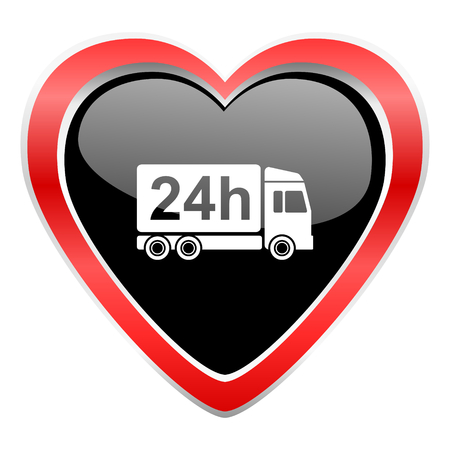 delivery icon 24h shipping sign photo
