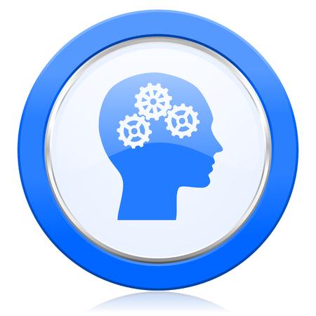 brainy: head icon human head sign