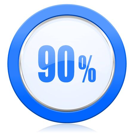 ninety: 90 percent icon sale sign