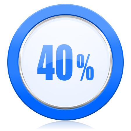 40: 40 percent icon sale sign Stock Photo