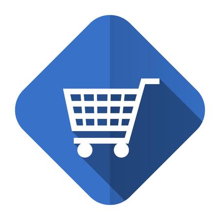 cart flat icon shop sign photo