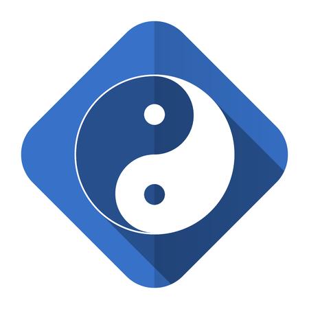 ying yang flat icon photo