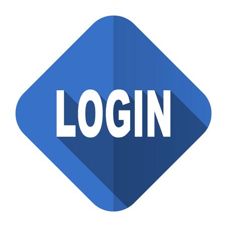 Log Out: login flat icon Stock Photo
