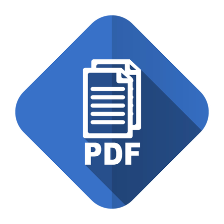 bibliography: pdf flat icon pdf file sign