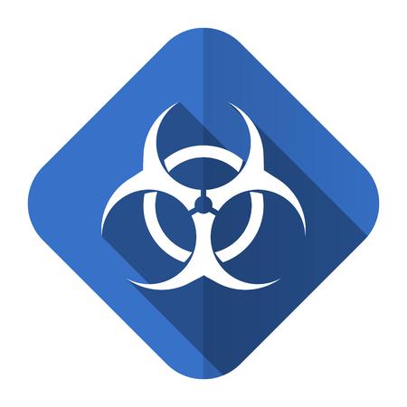 biohazard: biohazard flat icon virus sign Stock Photo