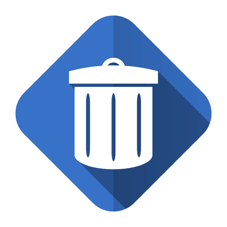 recycle flat icon recycle bin sign photo
