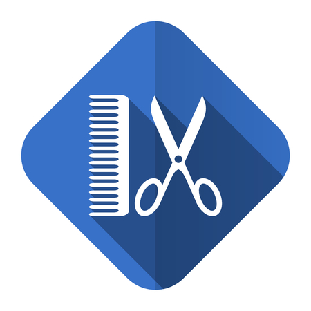 barber flat icon photo