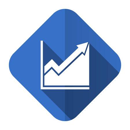 histogram flat icon stock sign photo