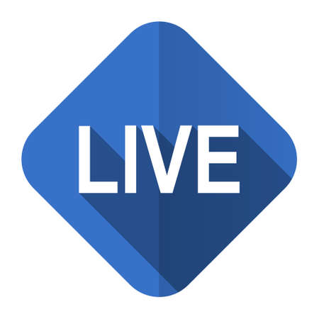 news cast: live flat icon