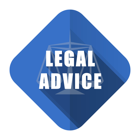 criminal act: legal advice flat icon law sign