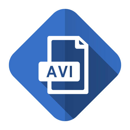 avi: avi file flat icon