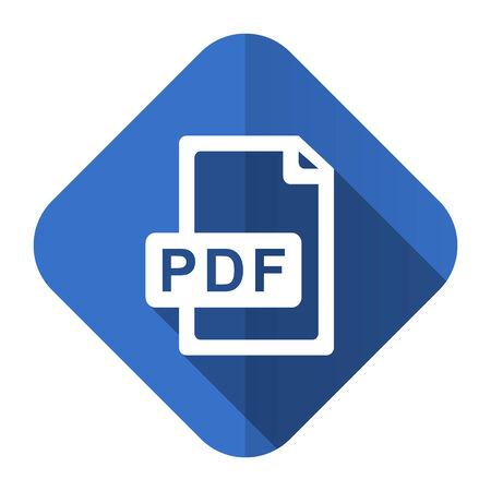 bibliography: pdf file flat icon