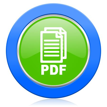 bibliography: pdf icon pdf file sign