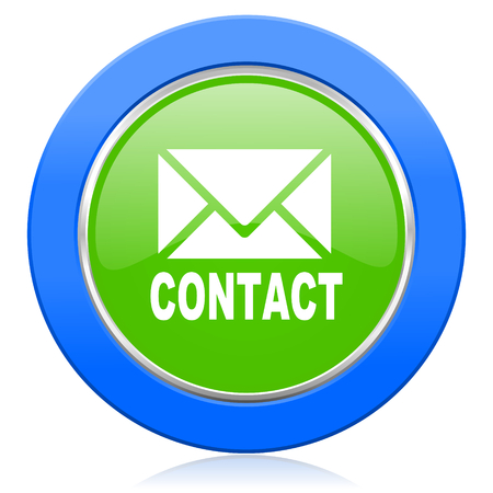email contact: email icon contact sign Stock Photo