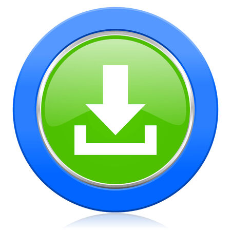 download icon: download icon Stock Photo