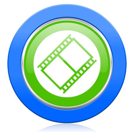 movie sign: pel�cula icono de pel�cula s�mbolo de la muestra de cine