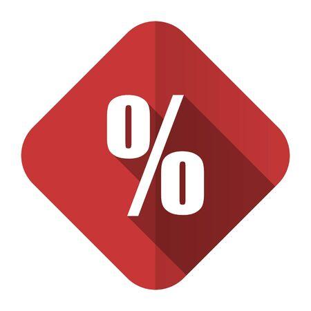 percent flat icon photo