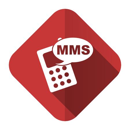 mms: mms flat icon phone sign Stock Photo