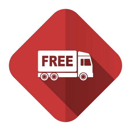 deliverance: free delivery flat icon transport sign