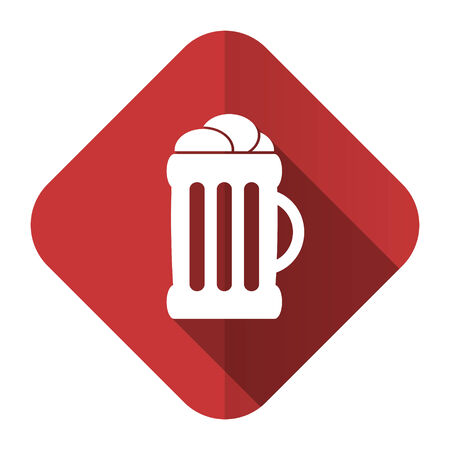 cereal bar: beer flat icon mug sign Stock Photo