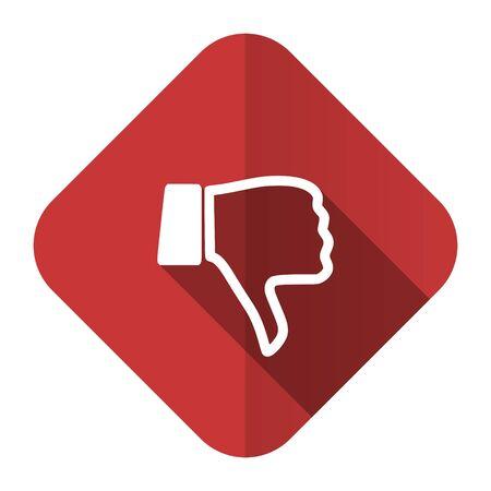 dislike flat icon thumb down sign photo