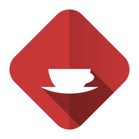 espresso flat icon caffe cup sign photo