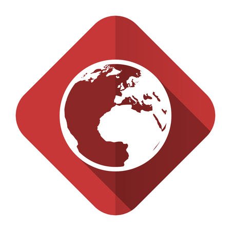 parallels: earth flat icon world sign