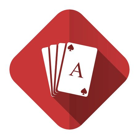 picto: casino flat icon hazard sign Stock Photo