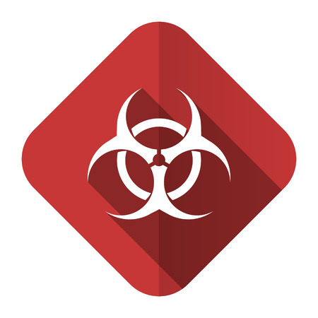 bacterioa: biohazard flat icon virus sign Stock Photo