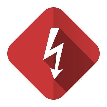 bolt flat icon flash sign photo