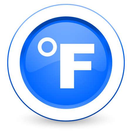 fahrenheit: fahrenheit icon temperature unit sign Stock Photo